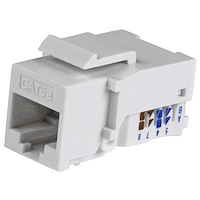 Cat5e Modular Keystone Jack White - Tool-Less