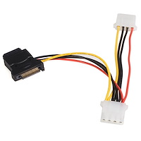 SATA to LP4 Power Cable Adapter with 2 Additional LP4