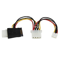 LP4 to SATA Power Cable Adapter with Floppy Power