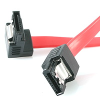 18in Latching SATA to Right Angle SATA Serial ATA Cable