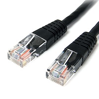 Cat5e Patch Cable with Molded RJ45 Connectors - 25 ft. - Black