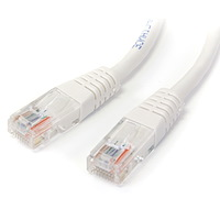 Cat5e Patch Cable with Molded RJ45 Connectors - 2 ft. - White