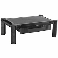Monitor Riser with Drawer - Height Adjustable - Large