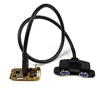 2 Port SuperSpeed Mini PCI Express USB 3.0 Adapter Card w/ Bracket Kit and UASP Support