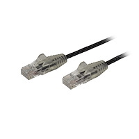 2.5 m CAT6 Cable - Slim - Snagless RJ45 Connectors - Black