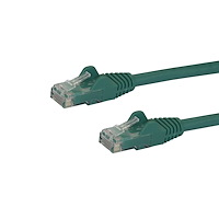 6in CAT6 Ethernet Cable - Green CAT 6 Gigabit Ethernet Wire -650MHz 100W PoE RJ45 UTP Network/Patch Cord Snagless w/Strain Relief Fluke Tested/Wiring is UL Certified/TIA
