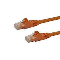 30ft CAT6 Ethernet Cable - Orange CAT 6 Gigabit Ethernet Wire -650MHz 100W PoE RJ45 UTP Network/Patch Cord Snagless w/Strain Relief Fluke Tested/Wiring is UL Certified/TIA