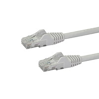 10m CAT6 Ethernet Cable - White CAT 6 Gigabit Ethernet Wire -650MHz 100W PoE RJ45 UTP Network/Patch Cord Snagless w/Strain Relief Fluke Tested/Wiring is UL Certified/TIA