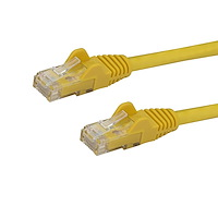 4ft CAT6 Ethernet Cable - Yellow CAT 6 Gigabit Ethernet Wire -650MHz 100W PoE RJ45 UTP Network/Patch Cord Snagless w/Strain Relief Fluke Tested/Wiring is UL Certified/TIA