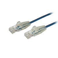 1 ft. CAT6 Ethernet Cable - Slim - Snagless RJ45 Connectors - Blue