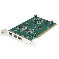 3 Port 2b 1a PCI 1394b FireWire Adapter Card with DV Editing Kit