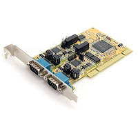 2 Port RS232/422/485 PCI Serial Adapter Card w/ ESD Protection