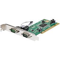 PCI RS232 seriell kortadapter med 2 portar och 16550 UART
