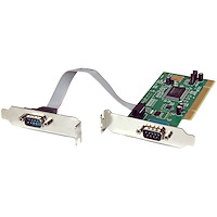 2 Port PCI Low Profile RS232 Serial Adapter Card with 16550 UART
