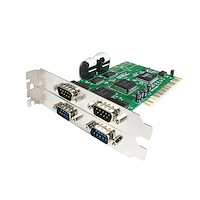4 Port PCI RS232 Serial Adapter Card with 16550 UART