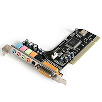 5 Channel PCI Sound Adapter Card with AC97 3D Audio Effects
