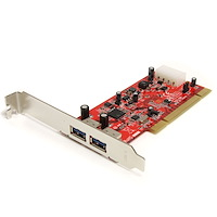 2 Port PCI SuperSpeed USB 3.0 Card Adapter