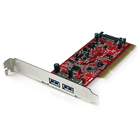 2 Port PCI SuperSpeed USB 3.0 Adapter Card with SATA Power