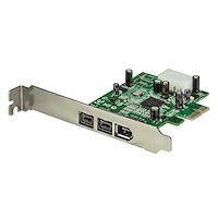3 Port 2b 1a 1394 PCI Express FireWire Card Adapter
