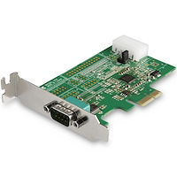 1-port PCI Express RS232 Serial Adapter Card - PCIe RS232 Serial Host Controller Card - PCIe to Serial DB9 - 16950 UART - Low Profile Expansion Card - Windows, macOS, Linux