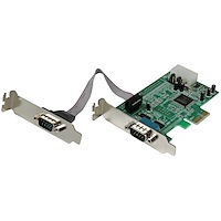 2 Port Low Profile Native RS232 PCI Express Serial Card with 16550 UART