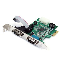 Discontinued and replaced by PEX2S953: 2 Port Native PCI Express RS232 Serial Adapter Card with 16950 UART