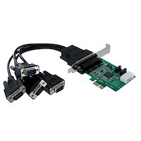 Native PCI express RS232 seriell-kortadapter med 4 portar och 16950 UART