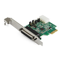 4-port PCI Express RS232 Serial Adapter Card - PCIe RS232 Serial Host Controller Card - PCIe to Serial DB9 Card - 16950 UART - Expansion Card - Windows, macOS, Linux