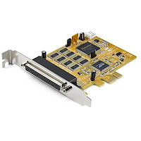 8-Port PCI Express RS232 Serial Adapter Card - PCIe RS232 Serial Card - 16C1050 UART - Multiport Serial DB9 Controller/Expansion Card - 15kV ESD Protection - Windows & Linux