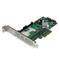 2 Port PCI Express 2.0 SATA III 6Gb/s Raid Controller Karte mit 2 mSATA Anschlüssen und HyperDuo SSD Tiering