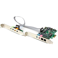 7.1 Channel Sound Card - PCI Express, 24-bit, 192KHz