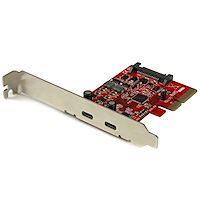 2-Port USB 3.1 (10Gbps) Card - 2x USB-C - PCIe