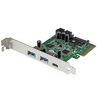 5-ports USB 3.1 PCIe-kort - 1x USB-C (10Gbps), 2x USB-A (5Gbps) + 1x 2-ports IDC (5Gbps)