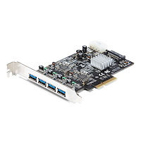 4-Port USB 3.1 (10Gbps) Card - 4x USB-A with Two Dedicated Channels - PCIe