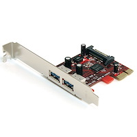 2 Port SuperSpeed USB 3.0 PCI Express Card with UASP - SATA Power
