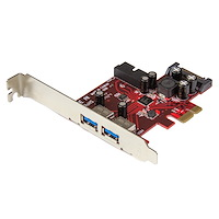 4-Port PCI Express USB 3.0 Card - 2 External, 2 Internal - SATA Power