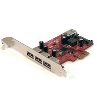 4 Port SuperSpeed USB 3.0 PCI Express Card with UASP - SATA Power