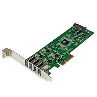 4 Independent Port PCI Express PCIe SuperSpeed USB 3.0 Controller Card Adapter with UASP - SATA Power
