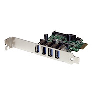 4 Port PCI Express PCIe SuperSpeed USB 3.0 Controller Card Adapter with UASP - SATA Power