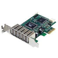 7 Port PCI Express Low Profile High Speed USB 2.0 Adapter Card