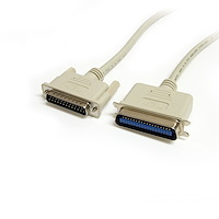 10 ft DB25 to Centronics 36 IEEE-1284 Parallel Printer Cable - M/M