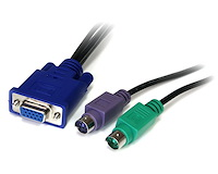 50 ft 3-in-1 Universal Ultra Thin PS/2 KVM Switch Cable
