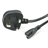 1 m (3.3 ft.) UK Laptop Power Cord - BS-1363 to C7 (Figure 8)