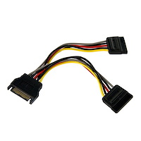 6in SATA Power Y Splitter Cable Adapter - M/F
