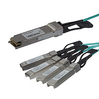 StarTech.com AOC Breakout Cable for Cisco QSFP-4X10G-AOC5M  - 5m/16.4ft 40G 1x QSFP+ to 4x SFP+ AOC Cable - 40GbE QSFP+ Active Optical Fiber - 40Gbps QSFP Plus/Transceiver Module Breakout Cable - C930