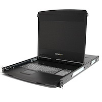 "1 port KVM Server Rack Console VGA - 17"" LCD 1080p HD met dubbele rails - 1U - US keyboard (QWERTY)"