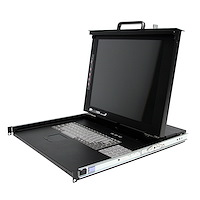 "1U 17"" Rackmount LCD Console with 8 Port Multi-Platform KVM"
