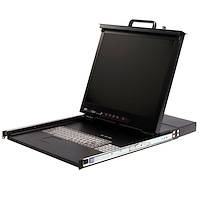 "1U 17"" Rackmount LCD Console with Integrated 16 Port KVM Switch"