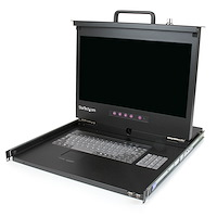 "1U 17"" HD 1080p Rackmount LCD Console with Front USB Hub"