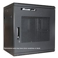 Refurbished 12U 19in Wall Mount Server Rack Cabinet w/ Steel Mesh Door